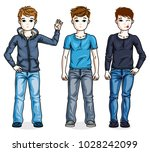 different young teen boys cute... | Shutterstock .eps vector #1028242099