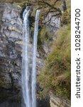 gujuli waterfall  basque...   Shutterstock . vector #1028244700
