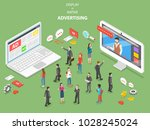 display vs native advertising... | Shutterstock .eps vector #1028245024