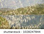 double exposure of a landscape...   Shutterstock . vector #1028247844