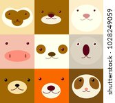 collection of avatars icons... | Shutterstock .eps vector #1028249059
