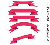 different horizontal pink... | Shutterstock .eps vector #1028252338
