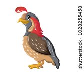 beautiful funny cartoon quail.... | Shutterstock .eps vector #1028255458