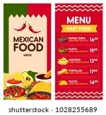 cinco de mayo mexican food menu ... | Shutterstock .eps vector #1028255689