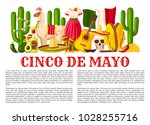 cinco de mayo mexican holiday... | Shutterstock .eps vector #1028255716