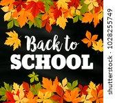 back to school poster of...   Shutterstock .eps vector #1028255749