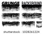 set of black ink vector stains | Shutterstock .eps vector #1028261224