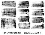 set of black ink vector stains | Shutterstock .eps vector #1028261254
