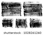 set of black ink vector stains | Shutterstock .eps vector #1028261260