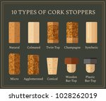 10 types of cork stoppers.... | Shutterstock .eps vector #1028262019