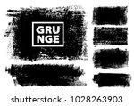 set of black ink vector stains | Shutterstock .eps vector #1028263903