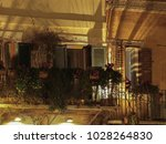 close up to lighten balcony... | Shutterstock . vector #1028264830
