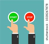 start button and stop button.... | Shutterstock .eps vector #1028267878