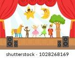 children actors performing... | Shutterstock .eps vector #1028268169