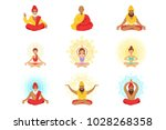 yogis and sages  people in the... | Shutterstock .eps vector #1028268358