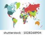 political world map | Shutterstock .eps vector #1028268904