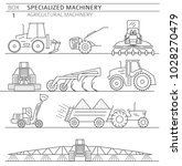 special agricultural machinery... | Shutterstock .eps vector #1028270479