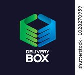 delivery box modern logo icon   Shutterstock .eps vector #1028270959