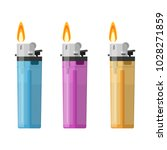 color plastic lighter set tool... | Shutterstock .eps vector #1028271859
