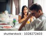 screaming woman arguing.judging ... | Shutterstock . vector #1028272603