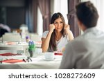 desperate crying woman fighting ... | Shutterstock . vector #1028272609