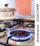 fire of a gas stove | Shutterstock . vector #1028273989