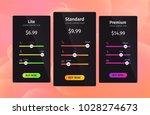 set of the offers tariffs plan...   Shutterstock .eps vector #1028274673