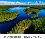 Aerial View Of Blue Lakes And...