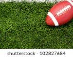 american football on the field   Shutterstock . vector #102827684