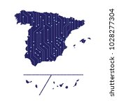 map of spain provinces. high... | Shutterstock .eps vector #1028277304