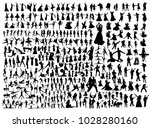 black dancing people and... | Shutterstock .eps vector #1028280160
