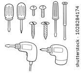 vector set of screw and... | Shutterstock .eps vector #1028284174