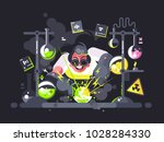 scientist chemist making test... | Shutterstock .eps vector #1028284330