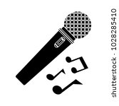 microphone icon   audio and...   Shutterstock .eps vector #1028285410