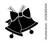 christmas bells flat icon | Shutterstock .eps vector #1028285434