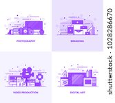 modern flat purple color line... | Shutterstock .eps vector #1028286670
