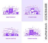 modern flat purple color line... | Shutterstock .eps vector #1028286688
