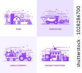 modern flat purple color line... | Shutterstock .eps vector #1028286700