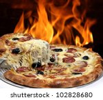 pizza | Shutterstock . vector #102828680