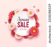spring sale background with... | Shutterstock .eps vector #1028288329