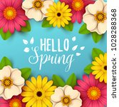 colorful spring background with ... | Shutterstock .eps vector #1028288368