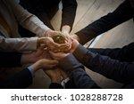 team hand holding plant for... | Shutterstock . vector #1028288728