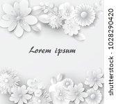 Paper Cut Flowers. Vector Stock.