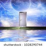 Surrealism. White Door...