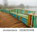 A Colorful Wooden Benches Buil...