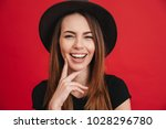 close up of a happy stylish... | Shutterstock . vector #1028296780