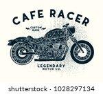 cafe racer t shirt desgin | Shutterstock .eps vector #1028297134
