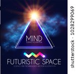 abstract geomrtic banner with... | Shutterstock .eps vector #1028299069
