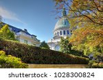 the large green dome of the... | Shutterstock . vector #1028300824