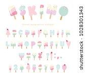 ice cream eskimo font. popsicle ... | Shutterstock .eps vector #1028301343